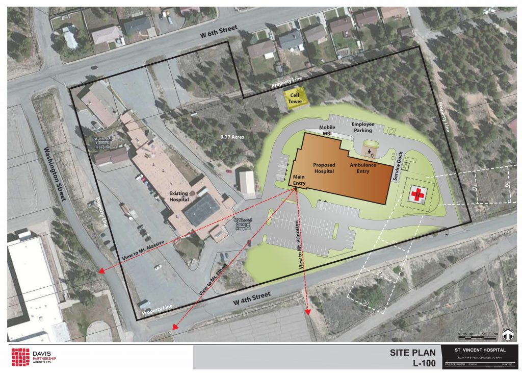 Exterior site plan of new St. Vincent Health